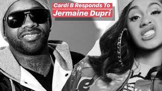 Cardi B Responds To Jermaine Dupri