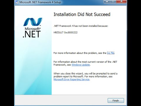 How to Fix HRESULT 0xc8000222 Error.NET Framework 4.0 While Problem Installation
