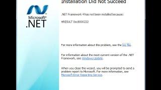 How to fix .Net error hresult