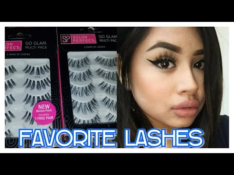 dfd8c997899 FAVORITE AFFORDABLE LASHES. SALON PERFECT. 2017 - YouTube