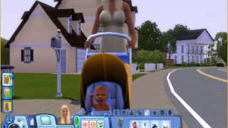 MY sims 3 baby crying