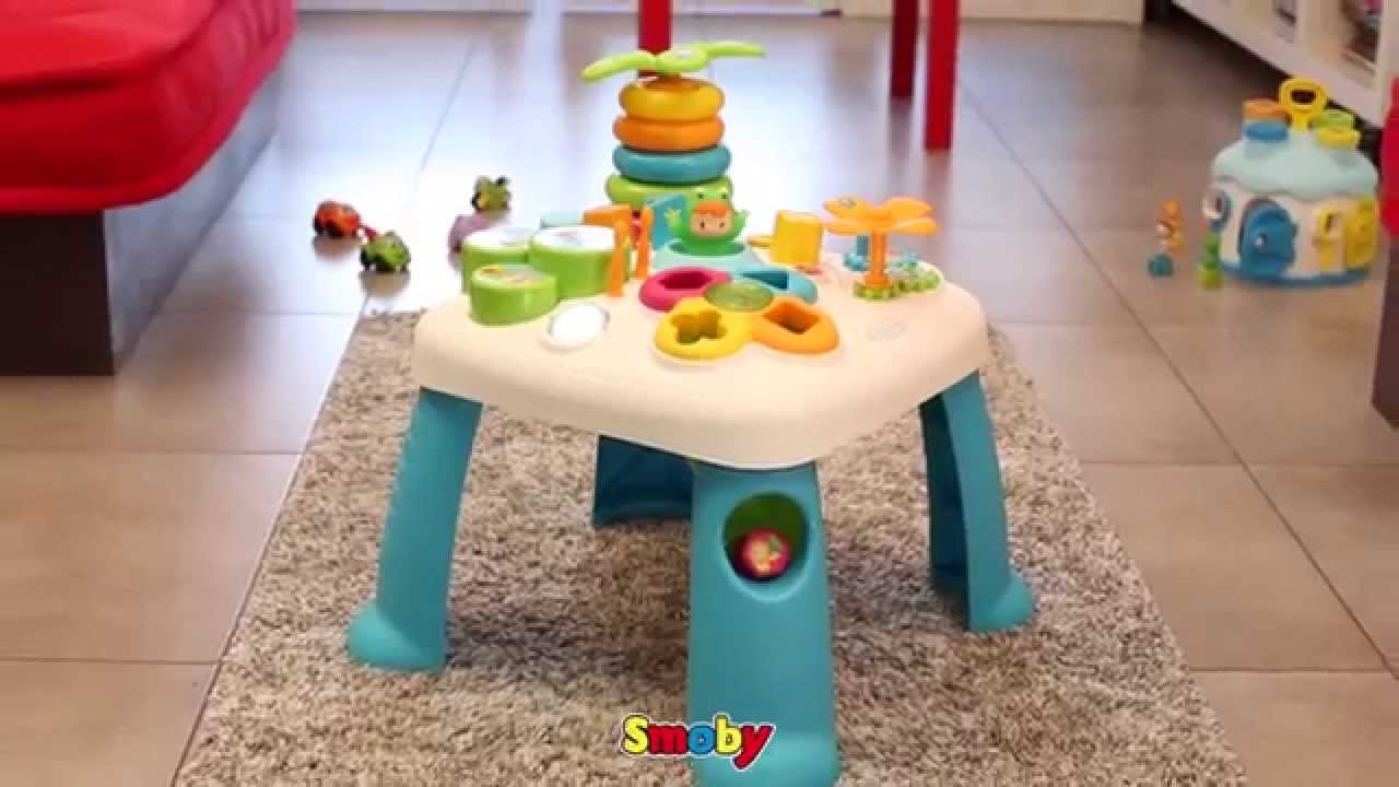 smoby table d 39 activit s cotoons youtube. Black Bedroom Furniture Sets. Home Design Ideas