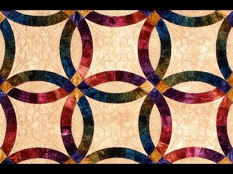 double wedding ring part 2 quilt video by shar jorgenson - Double Wedding Ring Quilt Templates