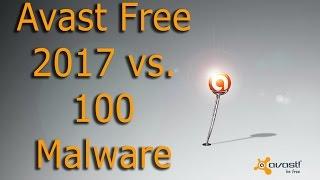 Avast Free 2017 vs. 100 Malware - Test