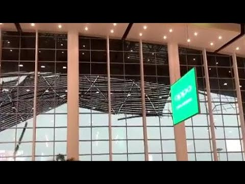 WOW: Roof collapses at airport in China's southeast Jiangxi Province