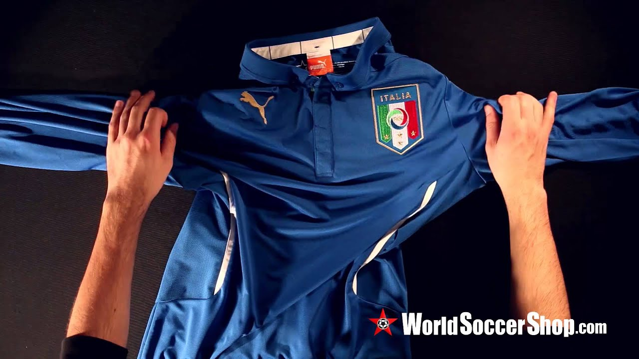 37bc066b320 Puma Italy 2014 LS Home Soccer Jersey - Unboxing. World Soccer Shop