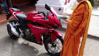 BACK IN THAILAND #8 - blessing of motorcycle and where i am - ISAAN ubon