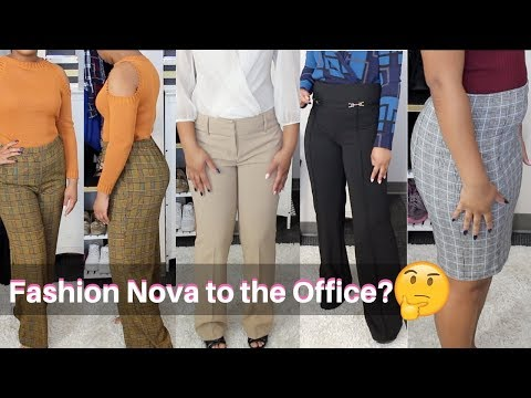 Fashion Nova to the Office? TRY-ON HAUL   Tommie Marie