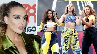 perrie edwards rushed to the hospital little mix continues performance without her