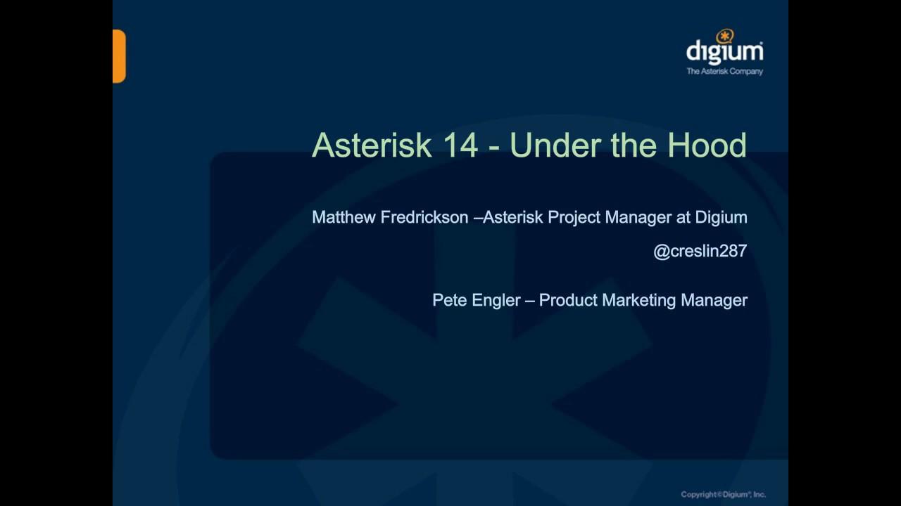 Asterisk 14 Under The Hood | Phone System | Webinar