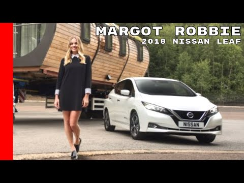 Margot Robbie Driving 2018 Nissan Leaf