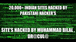 Dr@cul@ & Muhammad Bilal Hacked 20,000 Indian Sites,