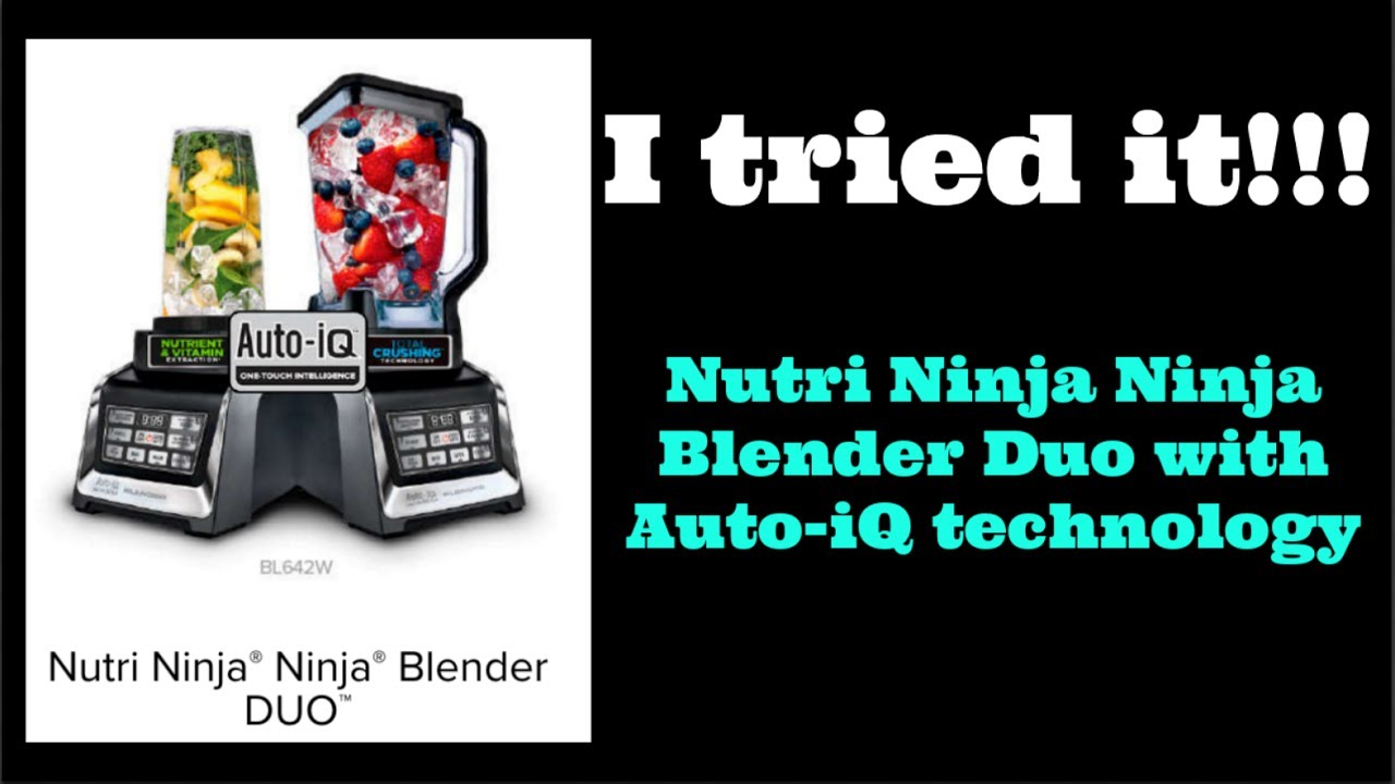 Nutri ninja blender system with auto iq technology - Nutri Ninja Blender Duo With Auto Iq Technology