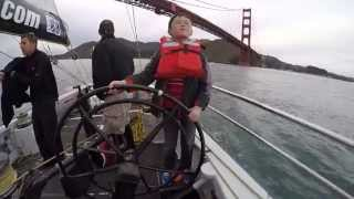 children sailing on america s cup race yacht usa 76