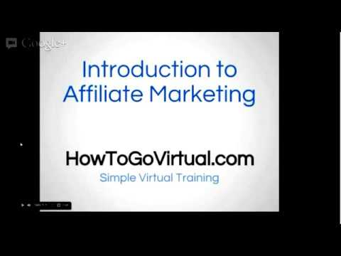 Introduction to Affiliate Promoting