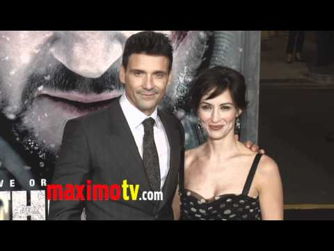 Frank Grillo and Wendy Moniz at THE GREY Premiere Arrivals
