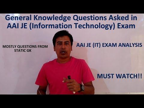 General Knowledge Questions asked in AAI JE (Information Technology) | Exam Analysis |