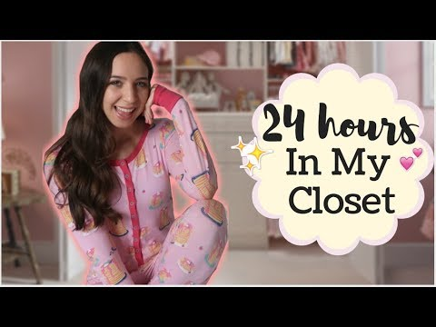 I spent 24 Hours In My Closet & The Power Went Out!!