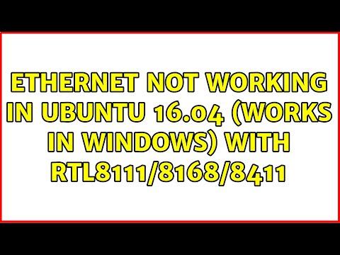 Ubuntu: Ethernet Not Working In Ubuntu 16.04 (works In Windows) With RTL8111/8168/8411