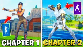 Evolution of Season Dances in Fortnite (Chapter 1 - Chapter 2)