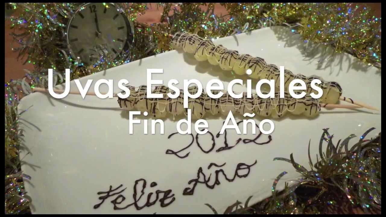 Recetas De Cocina Para Fin De Año | Especial Fin De Ano Brochetas De 12 Uvas Con Chocolate Youtube