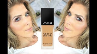 NEW Lawless  Woke Up Like This Flawless Finish Foundation Review | Collab with Risa Does Makeup!!