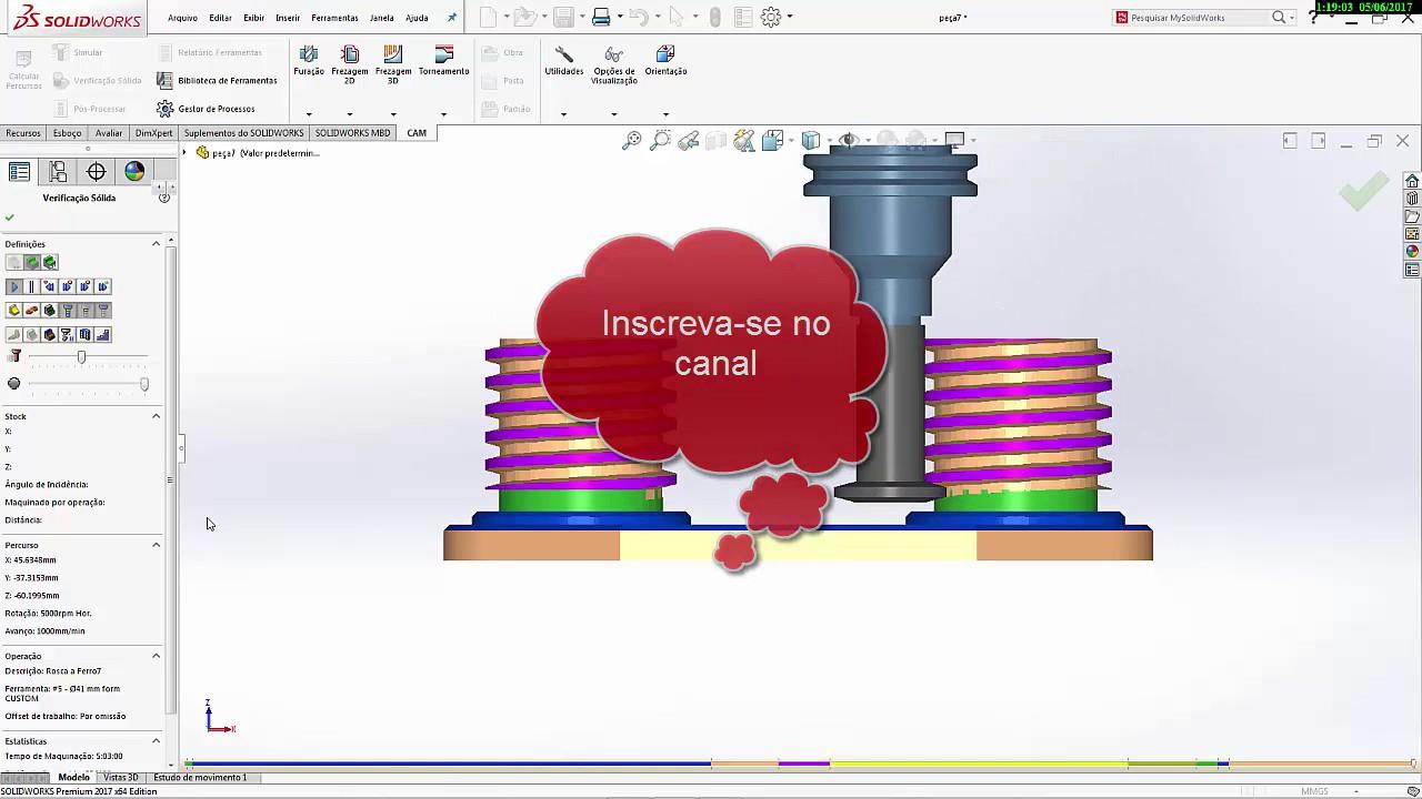 SolidWorks HSMWorks 2017 CAD/CAM/CNC (Video Simulation)
