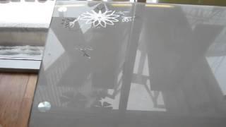 www.ctol.com.ua - Обеденный стеклянный стол (С411 серый)