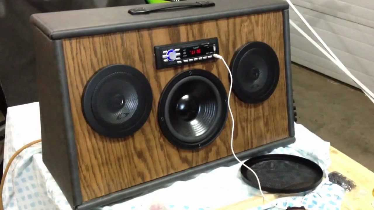 Diy Home Made Boombox Lots Of Bass Youtube
