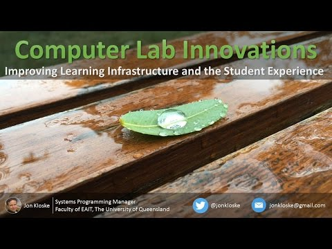 Computer Lab Innovations: Improving Learning Infrastructure and the Student Experience