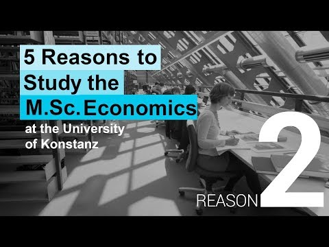 Five reasons to study the MSc Economics in Konstanz: Excellence