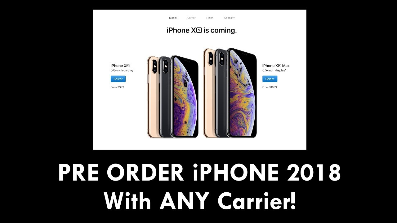 PRE ORDER iPHONE 2018 - With ANY Carrier!