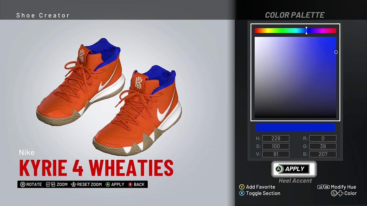 low priced 12eb3 381b1 NBA 2K19 Shoe Creator - Nike Kyrie 4