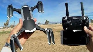 YH18S FPV 1080p Folding Camera Drone Flight Test Review