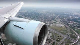 Air Canada 767-300ER Engine View Landing at Toronto-Pearson International Airport!