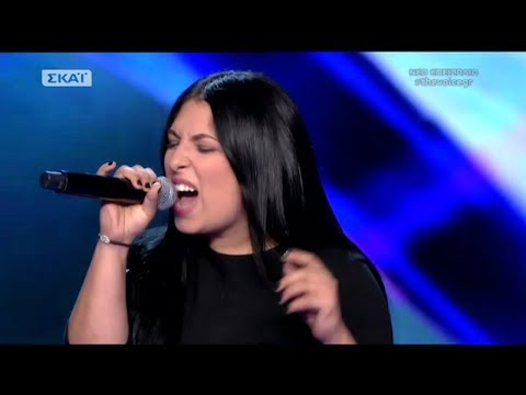 The Voice of Greece 4 - Blind Audition - LONG TRAIN RUNNIN - Elena Mahfouz