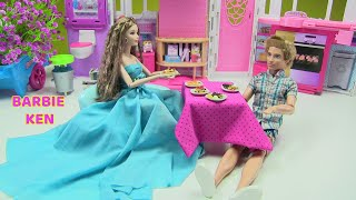 Búp Bê Barbie Được Ken Tặng Váy Dạ Hội Mới - Đồ Chơi Trẻ Em Chị Bí Đỏ Doll's Show