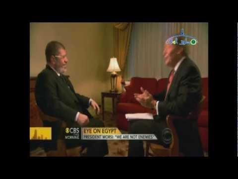 لقاء الرئيس محمد مرسى على قناة CBS NEWS الأمريكية