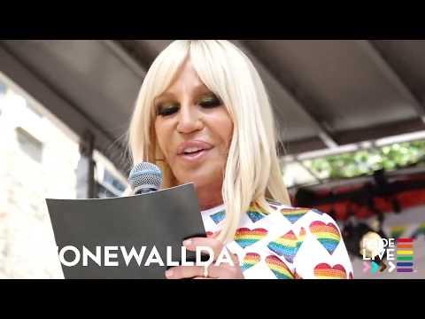 Donatella Versace at Stonewall Day