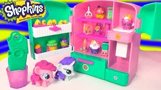 Shopkins Season 3 Metallic So Cool Fridge Refrigerator Toy Playset With MY Little Pony Fash'ems
