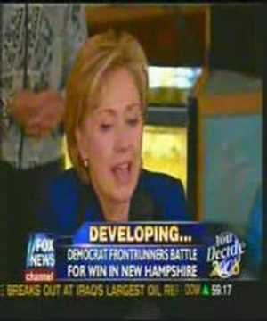 Hillary Clinton chokes with emotion in New Hampshire