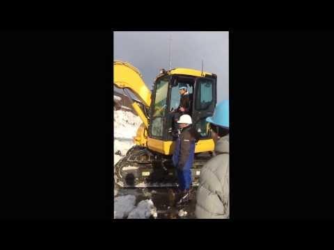 北広島 コマツ教習所 車両系建設機械の教習風景