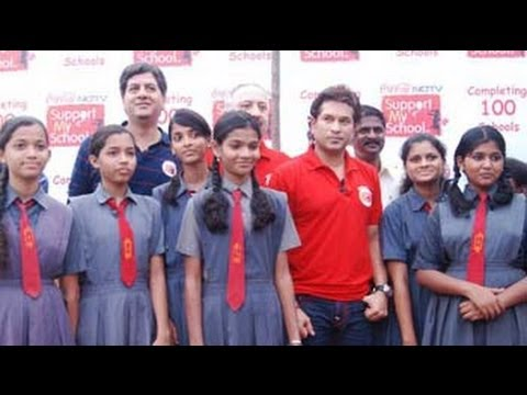 NDTV's Support My School Campaign: Sachin visits the school he adopted