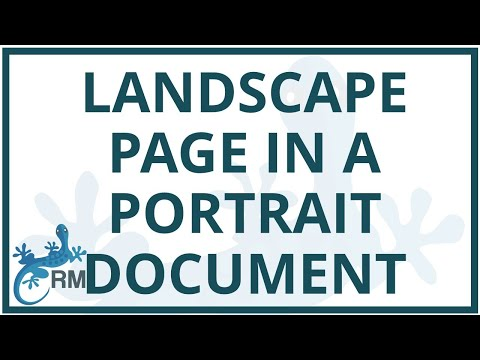 Word: how to add a landscape layout table into a portrait layout document in Word