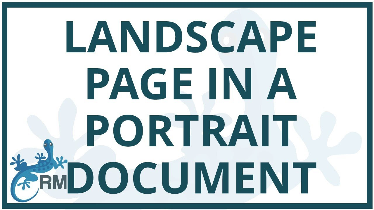 Word  How To Add A Landscape Layout Table Into A Portrait Layout Document In Word