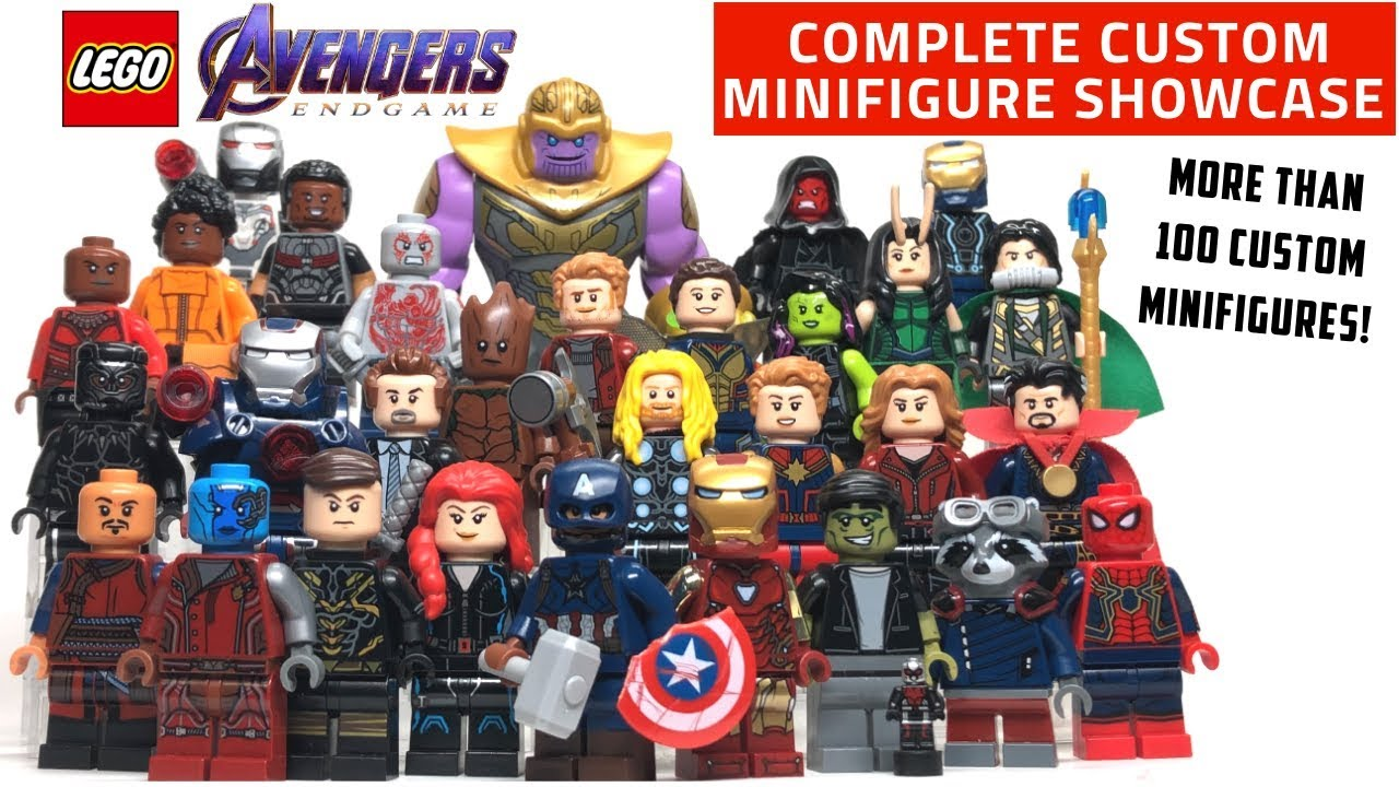 Iron Man Captain Marvel End Game Superheroes Lego Avengers Minifigures