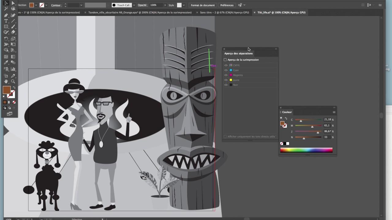 Assez Noir et blanc dans Illustrator - YouTube UB95