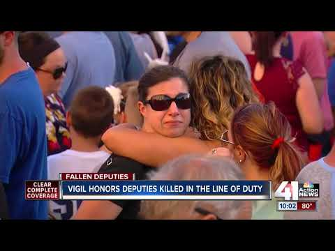 Friends, family and law enforcement remember fallen Wyandotte County deputies at vigil