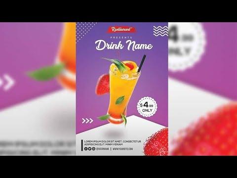 Restaurant Product Advertising Flyer Design - Photoshop Tutorial thumbnail