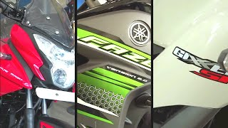 #Bikes@Dinos: Gixxer SF vs Pulsar AS 150 vs Fazer V2 FI (Comparison)